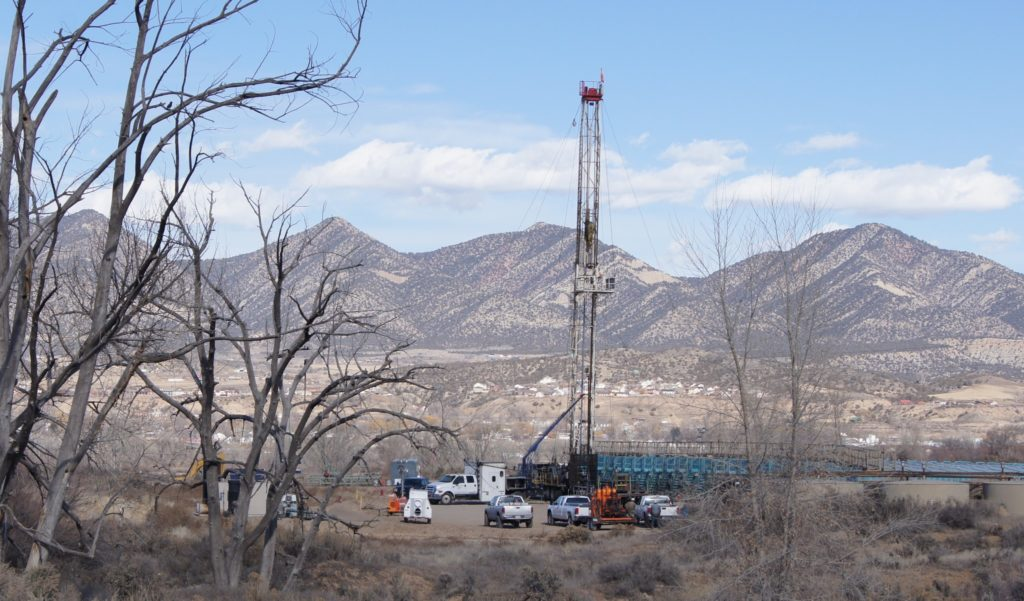 Natural gas well in Garfield County, CO ED WILLIAMS