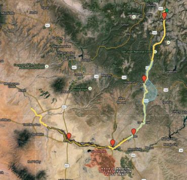 Map Of EPA Mine Accident That Sent Pollution Down Animas, San Juan Rivers