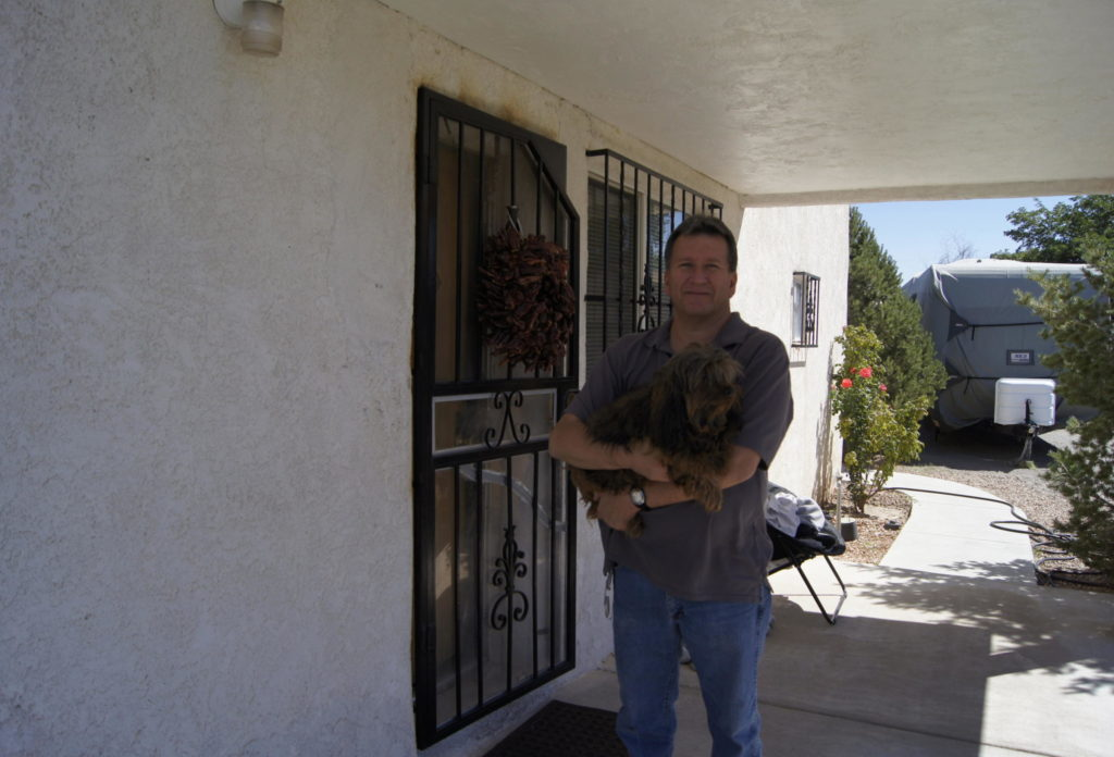 Robert Miranda at his home in Albuquerque's Sawmill District ED WILLIAMS/KUNM