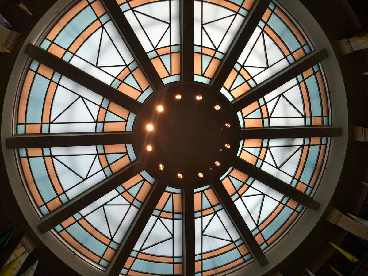 The ceiling above the Roundhouse rotunda MARISA DEMARCO / KUNM