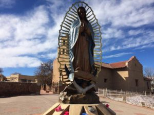 Outside the Our Lady of Guadalupe Church in Santa Fe CREDIT MARISA DEMARCO / KUNM