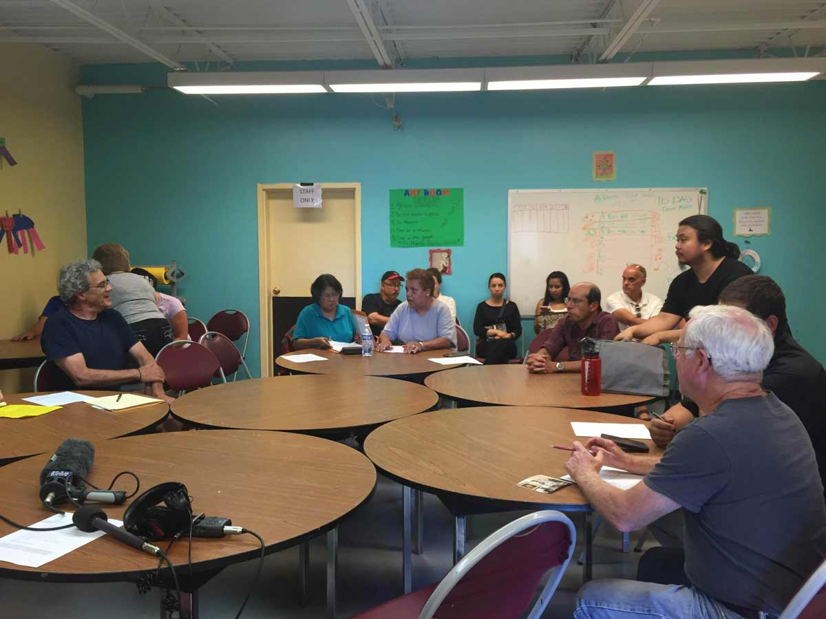 Wells Park residents expressed their concerns over a toxic plume in their community at the neighborhood association meeting on Tuesday. Victoria Edwards/KUNM