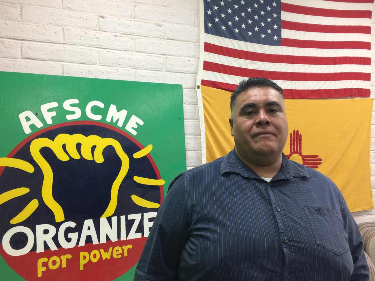 Frederick Garcia, president of the Doña Ana / Otero chapter of the state employees union and a worker with the state's Income Support Division Marisa Demarco / KUNM
