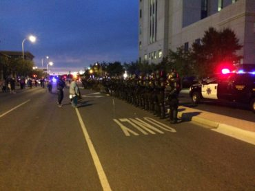 Law Enforcement Turns Out In Force For APD Protest