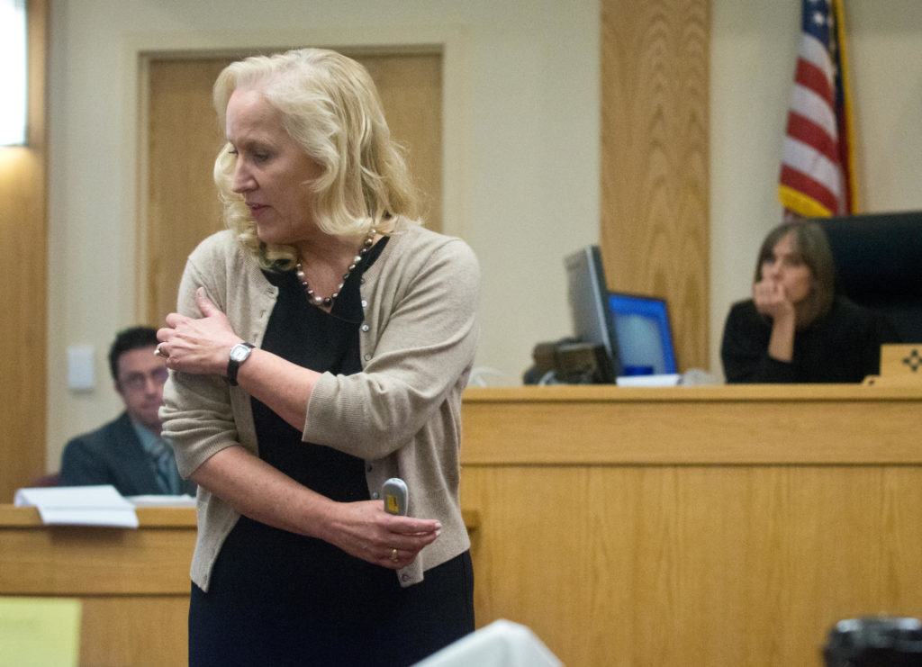 Special prosecutor Randi McGinn makes her closing argument for the jury. Marla Brose / Albuquerque Journal