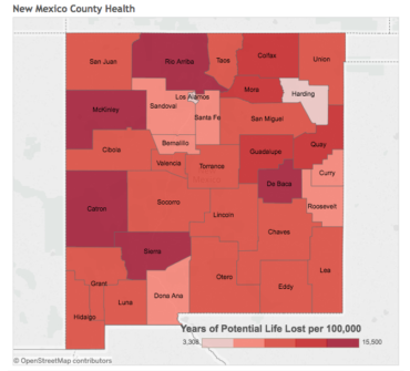 New Mexico County Health, Ranked